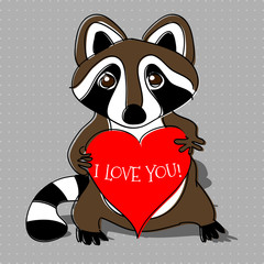 Raccoon in love