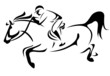 horse riding vector design