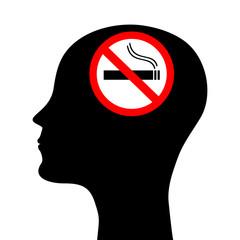 head silhouette smoker