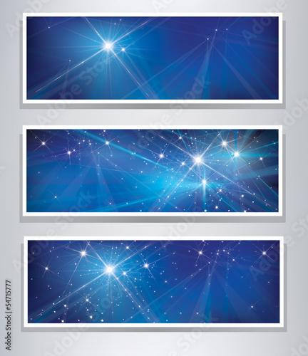Vector set of banners for design.