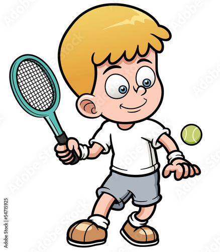 Vector illustration of Tennis Player