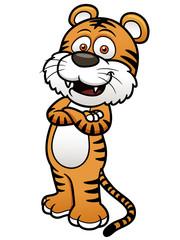 Vector illustration of Tiger cartoon