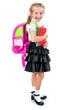 cute little girl in school uniform