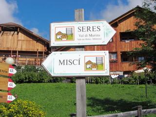 Valle dei Mulini. Seres-Miscì, Alto Adige