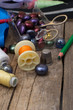 Instruments of repairman clothing  and thread