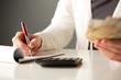 Accountant doing business finances