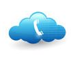 technology cloud computing. illustration