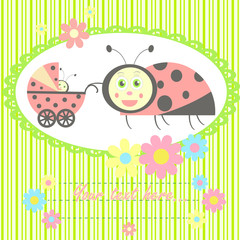 ladybird mom and baby card