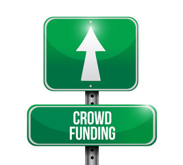 crowd funding road sign illustration design