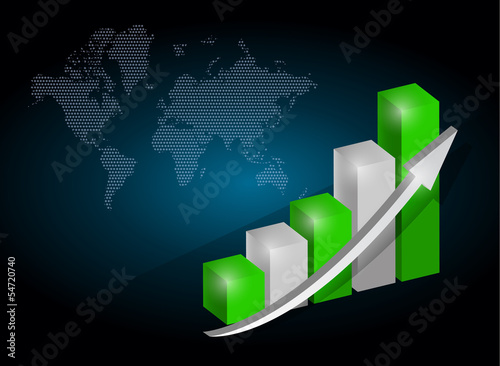 business graph chart illustration
