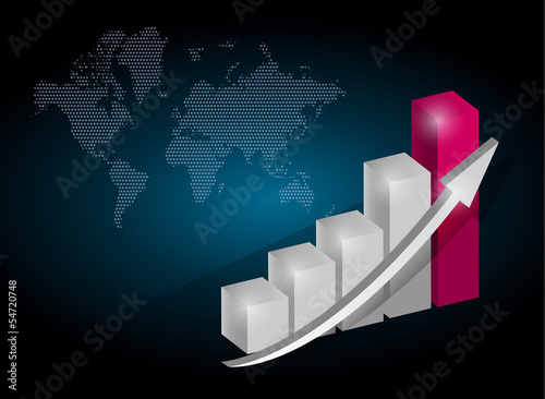 business graph chart illustration design