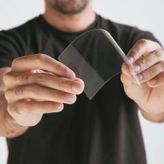 Scientific holding one piece transparent of graphene.