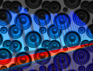 Abstract audio background