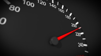 Car speedometer close-up. HD 1080.