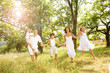 Leinwanddruck Bild - Happy family