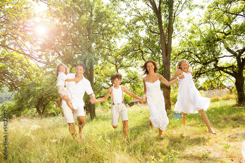 Leinwanddruck Bild Happy family