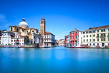Fototapeta Venice grand canal, San Geremia church landmark. Italy