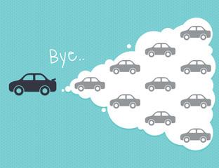 car cloud leadership concept