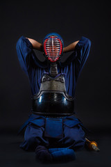 kendo fighter in the studio