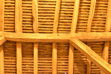 Inside of ancient wooden Roof