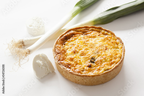 quiche goat cheese leek