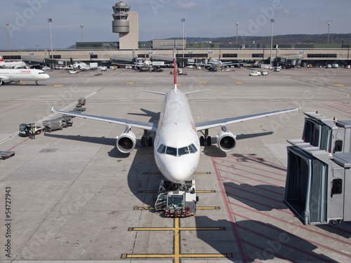 Leinwandbild Motiv Zurich Kloten Airport