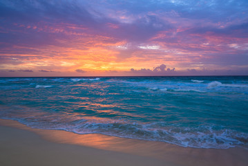 Sunrise in Cancun