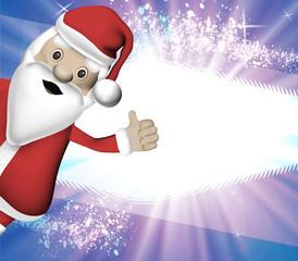Weihnachtsmann Daumen hoch