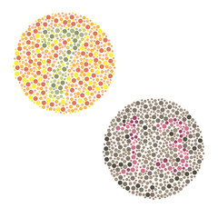 Ishihara Test. daltonism,color blindness disease. percepcion