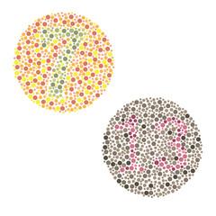 Ishihara Test. daltonism,color blindness disease. percepcion