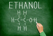 Ethanol alcohol chemical molecule structure