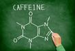 Caffeine molecule blackboard