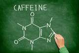 Caffeine molecule blackboard poster