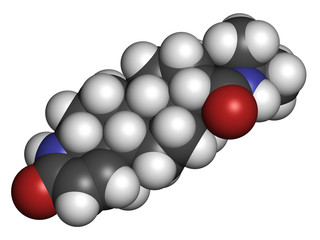 finasteride male pattern baldness drug, chemical structure.