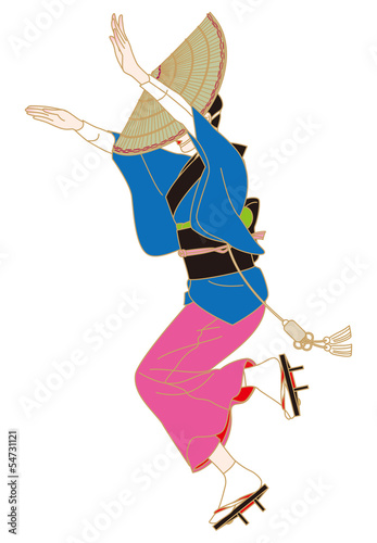 阿波踊りの女踊り