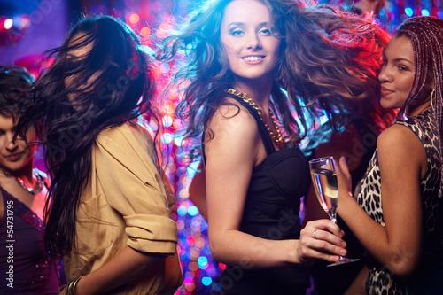 Leinwanddruck Bild Ecstatic dance