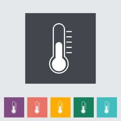 Thermometer flat icon.
