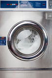 Automatic Washing Machine In Laundromat