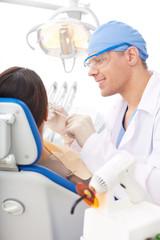 Work of dentist