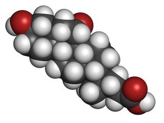 Ursodiol (ursodeoxycholic acid, UDCA) gallstone treatment drug