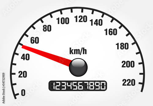 Illustration of a speedometer