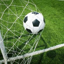 Fußball Fußballplatz Stadion Gras Linie Ball Hintergrund Textur