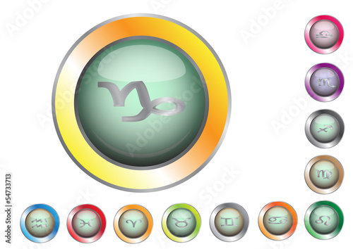 Set of zodiac icon vector, eps.10