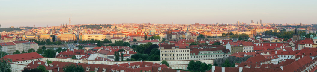 Panorama of Prague downtown