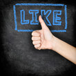 Like - likes thumbs up on blackboard