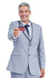 Handsome businessman holding credit card