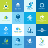 Set of icons for water