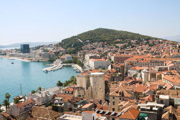 Split cityscape in Croatia