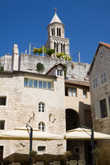 Diocletian Palace in Split, Croatia