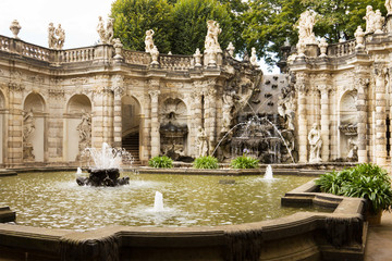 "The fountain ""Bath of nymphs"" in Zwinger. Dresden, Germany"